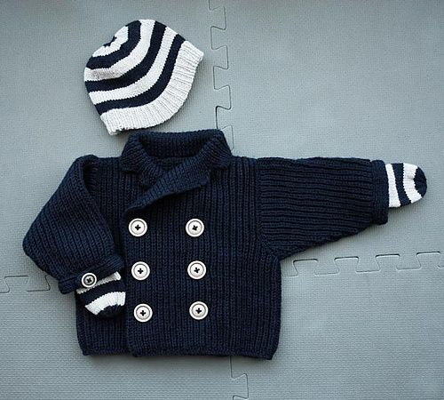 nautical baby knits