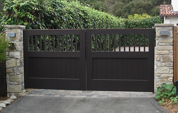 Custom Made Exterior Wood Gates by Adney & Sons Fine Woodworking on CustomMade.com
