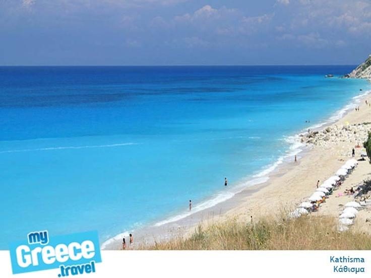 Kathisma Beach in Lefkada by www.lefkada-tours.gr