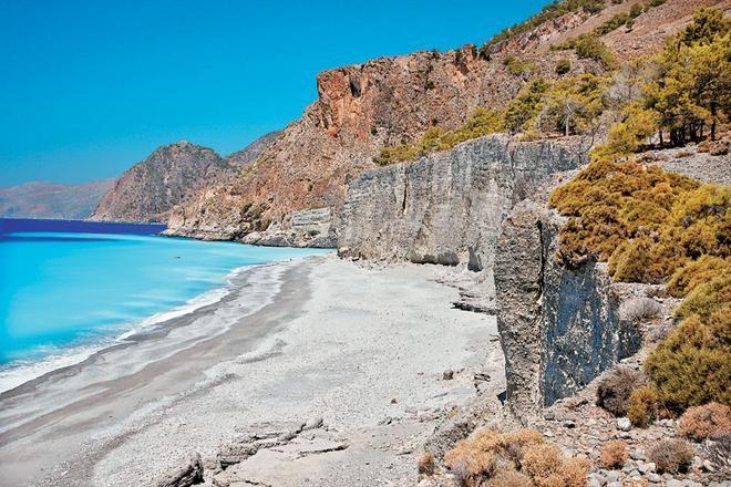 Domata beach, Sfakia, Chania, Crete, Greece