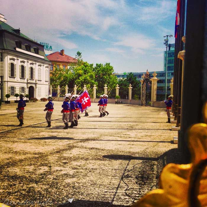 The changing of the guard in #bratislava #slovakia
