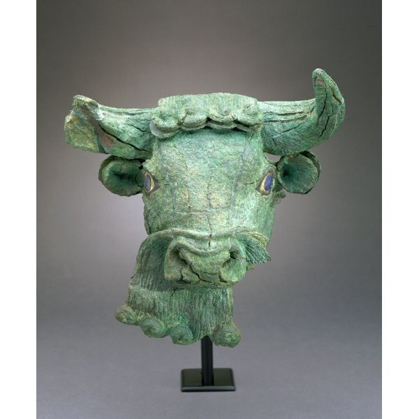 Bearded Bull's Head  Sumerian  2600-2450 BC