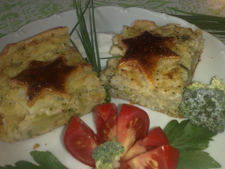 Zapečený karfiol s brokolicou