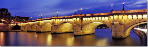 paris bridge night panoramic - Szukaj w Google