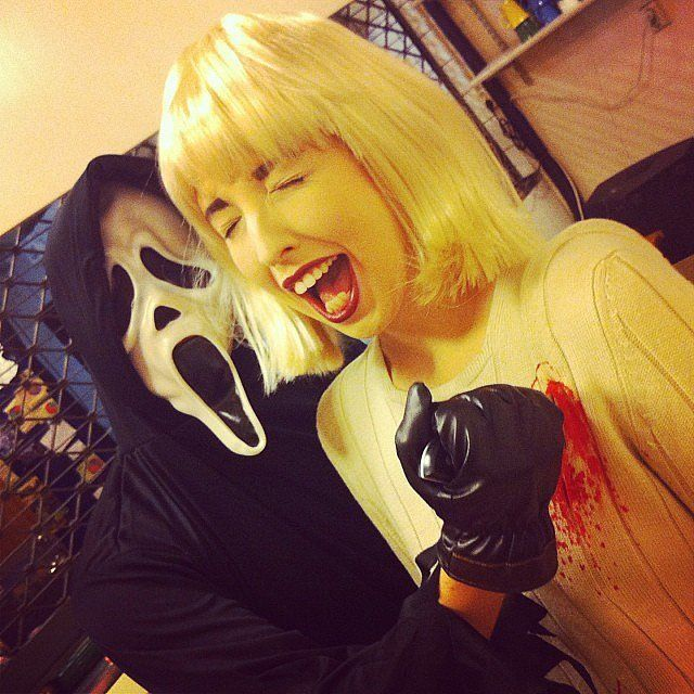 Bring the freight with this Scream costume