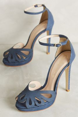 Guilhermina Bella Hells. Blue Bridal ShoesBlue Wedding ...