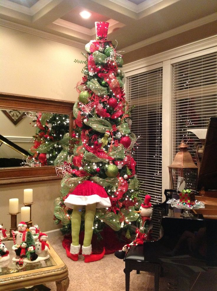 Grinch in the tree!! I want to make this!  Grinch Decorations | My Grinch Christmas Tree! | Christmas Decor