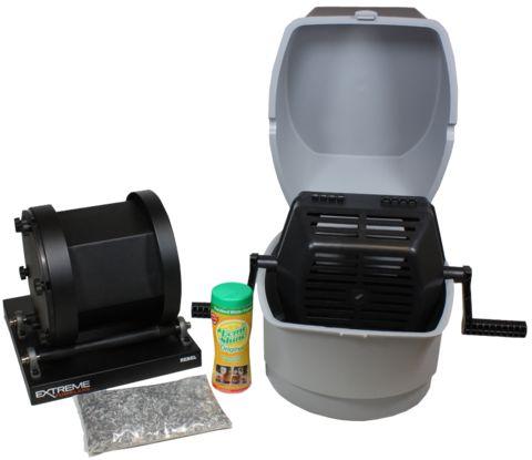 Rotary Tumbler Extreme Rebel 17 Kit Clean Ammo Brass, Reloading Brass, Stainless Steel Media, Brass Tumbler