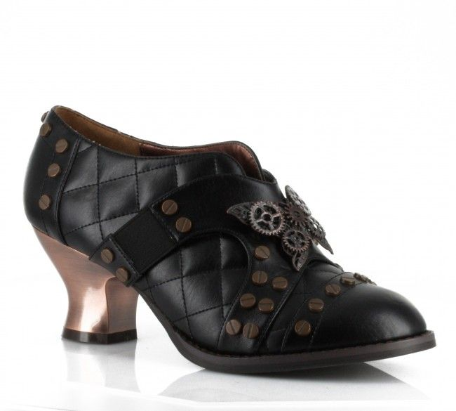 Hades Women's Oxford Shoe Hades Icon Steampunk Stretchable Straps Screw  Riverts Retro Heels Black - perfect pair of shoes to complete a steampunk  costume, ...