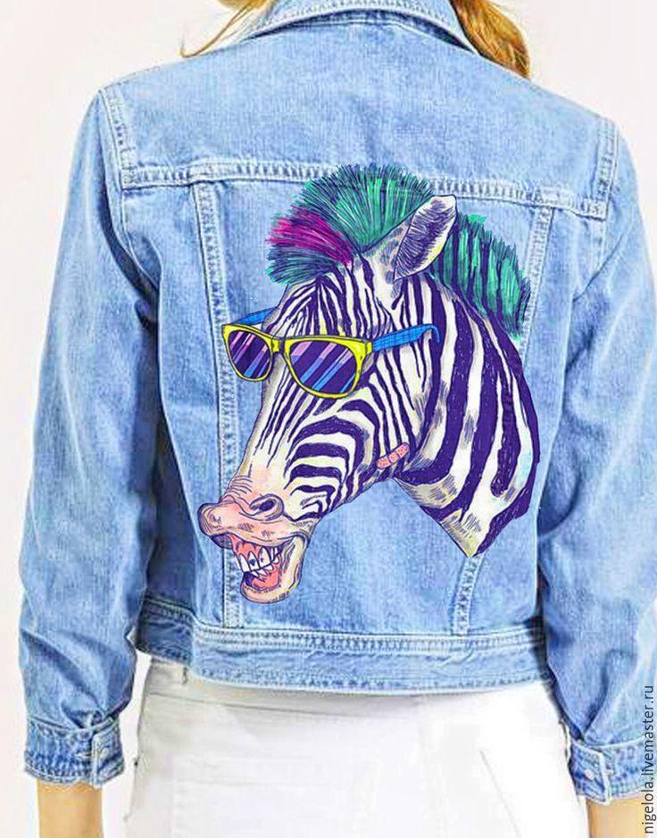Купить Ручная роспись. Футболока. Джинсовая куртка. Свитшот - джинсовая куртка, футболка, рисунок на закз