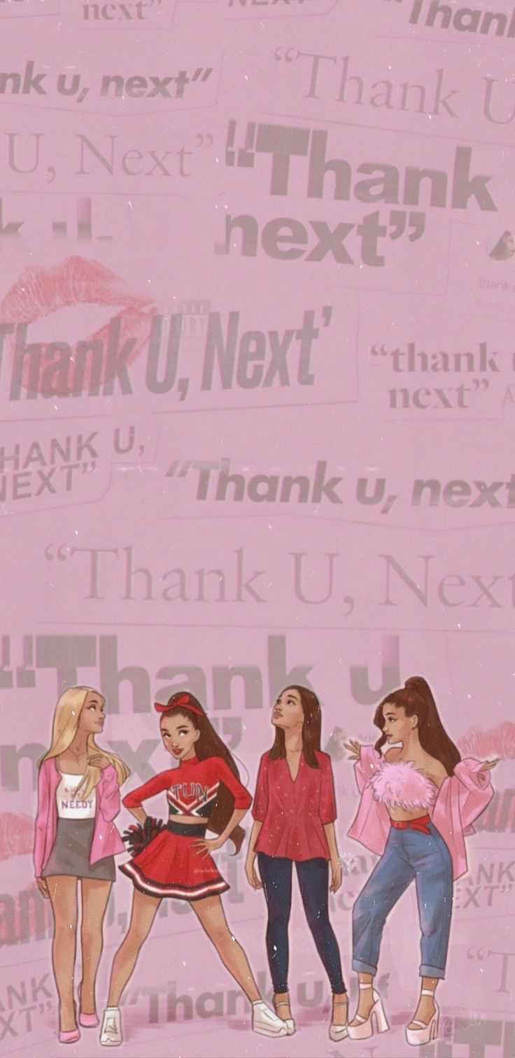 ariana grande thank you, next ( original animation made by @/rachelkatwalsh on i…