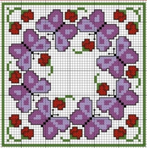 Regelingen klein borduurwerk. / Embroidery / Cross Stitch Schemes