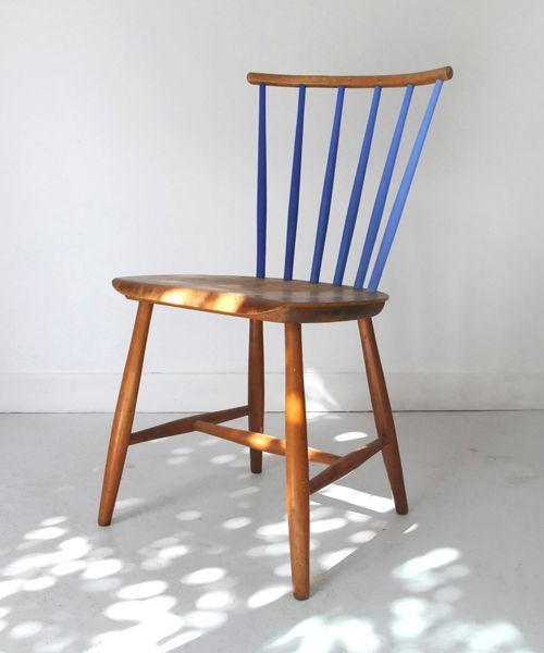 i quite like the blue spindles. #PaintedChair