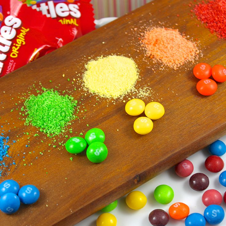 DIY Skittles Sprinkles DIY Skittles Sprinkles! I show you how to make amazing homemade sanding sugar using Skittles Candies to top your cakes and cupcakes.