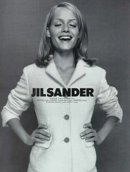 Amber Valleta for Jil Sander campaign by Craig McDean, fall 1995