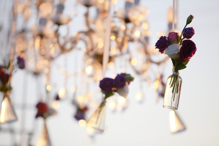 Dangling Flowers in dusk a by Tirtha Bridal Uluwatu Bali