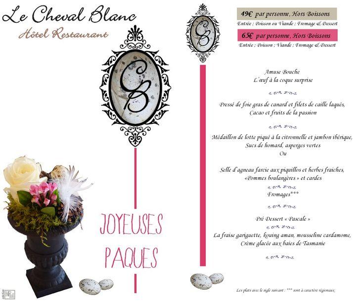 2015 - Menu Pâques Le Cheval Blanc made by NFM