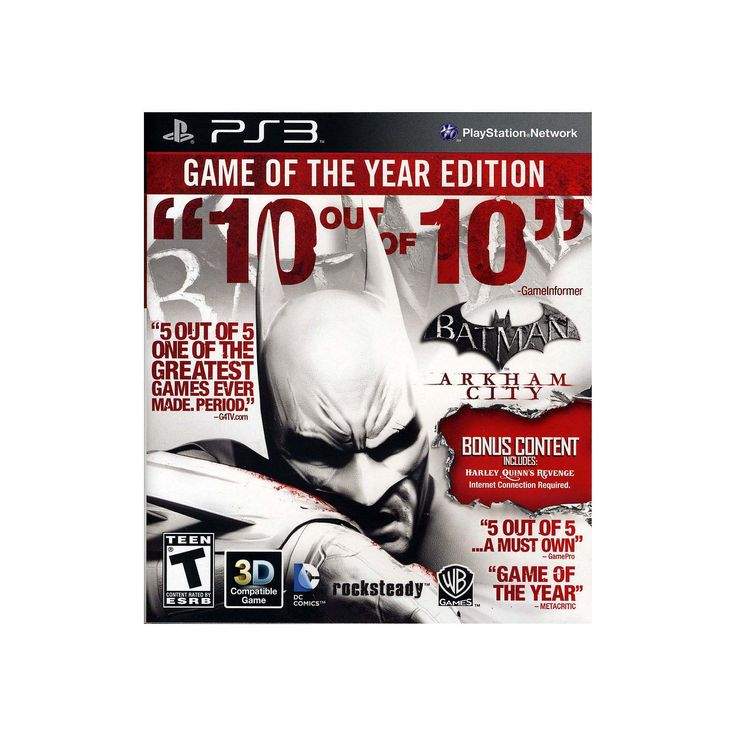 Batman: Arkham City - Game of the Year Edition for Playstation 3, Multicolor