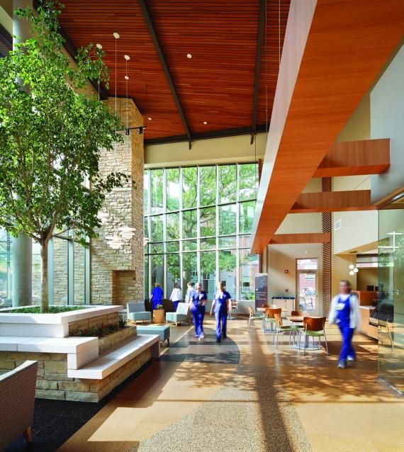 Green design and architecture are used to build a LEED-certified rural hospital
