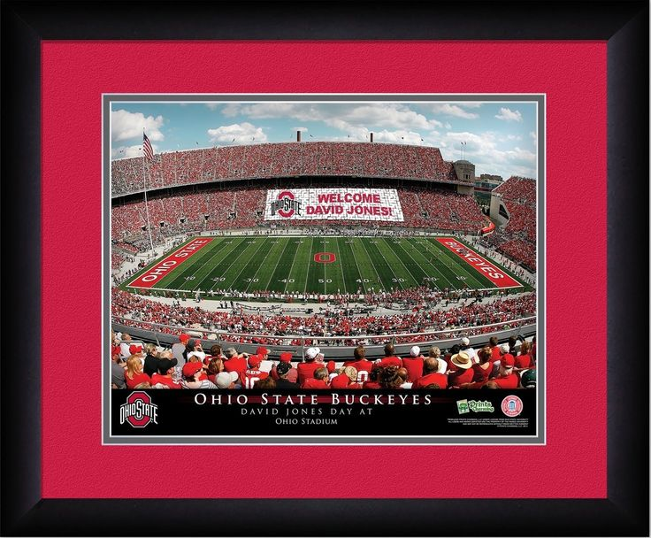 Ohio State Buckeyes Personalized Stadium Print