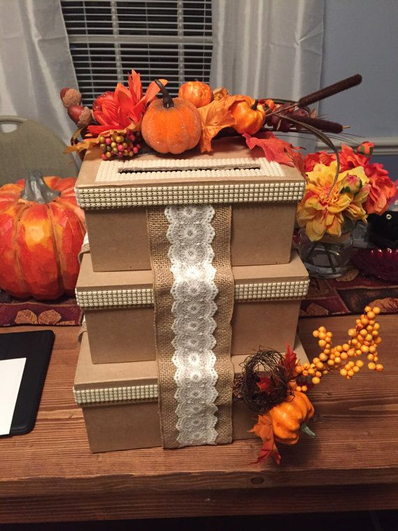 11 best Crafting images – Fall Wedding Card Boxes
