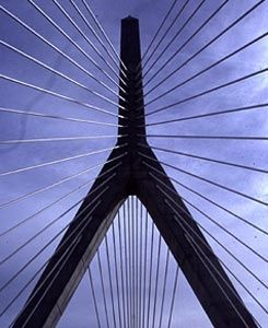 Leonard P. Zakim Bunker Hill Bridge, 2002, Boston MA, USA