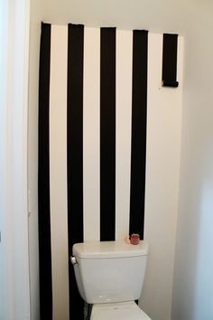 thick black washi tape on the walls - rental apartment wall decorating