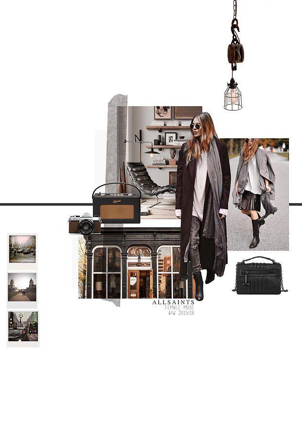 BOONSITA SINGHTOTHONG   ALLSAINTS: DUTY.  fashion design, fashion, portfolio, layout, art, drawing, sketching, muse board
