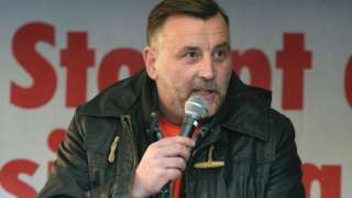 """Image copyright                  AFP/Getty Images                  Image caption                     Lutz Bachmann could face up to five years in jail   The founder of Germany's anti-Islamist Pegida party goes on trial on Tuesday on hate speech charges. Lutz Bachmann is accused of inciting racial hatred through a series of Facebook posts, in which he called refugees """"cattle"""" and """"trash"""". The 43-year-old's trial in Dresden"""