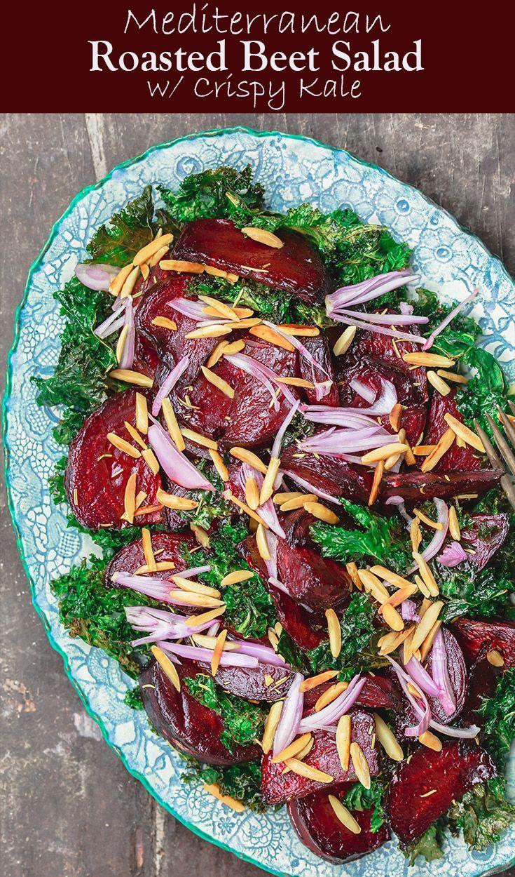 Roasted Beet Salad with Crispy Kale and Almonds | Recipe | :: We love LEFTOVERS! | Pinterest | Salad, Roasted beet salad and Salad recipes