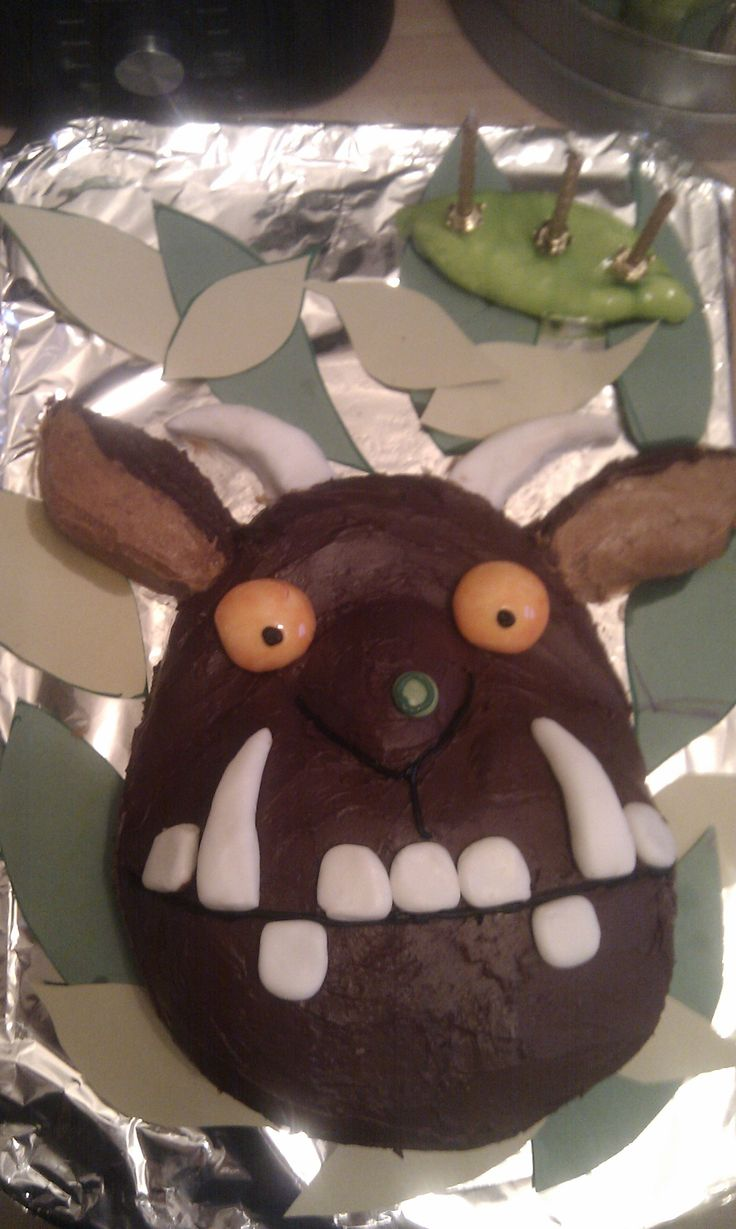 Gruffalo Cake great for a boy or girl. This was for my son when he turned three.
