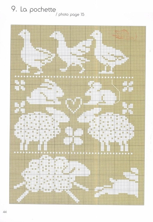 Chart knitting - I think I pinned this already - but I don't think it had that jumping sheep! :)