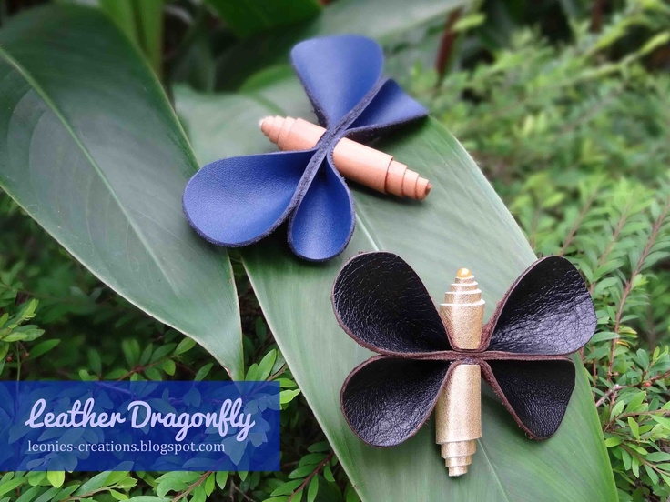 Leonie's Creations: Leather Dragonfly