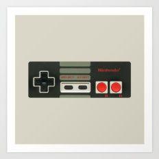Nintendo Controller Art Print