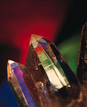These are man-made quartz crystals or silicon dioxide crystals. - Chris Knapton, Getty Images