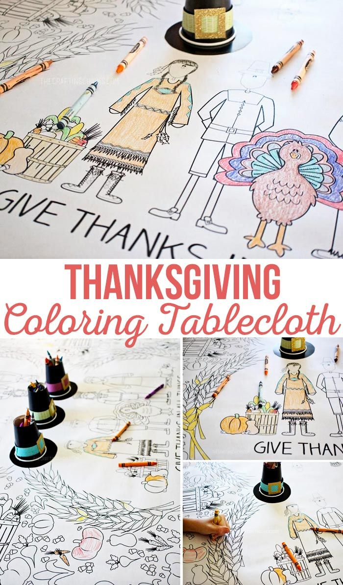 Thanksgiving Coloring Tablecloth Thanksgiving Diy Thanksgiving Activities For Kids Thanksgiving Kids