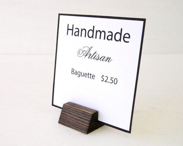 Retail Sign Holder - SET OF 100 -  1.5, 3, 5 inch long - Angled Holder - Visual Merchandiser Sign Holders by G360design on Etsy