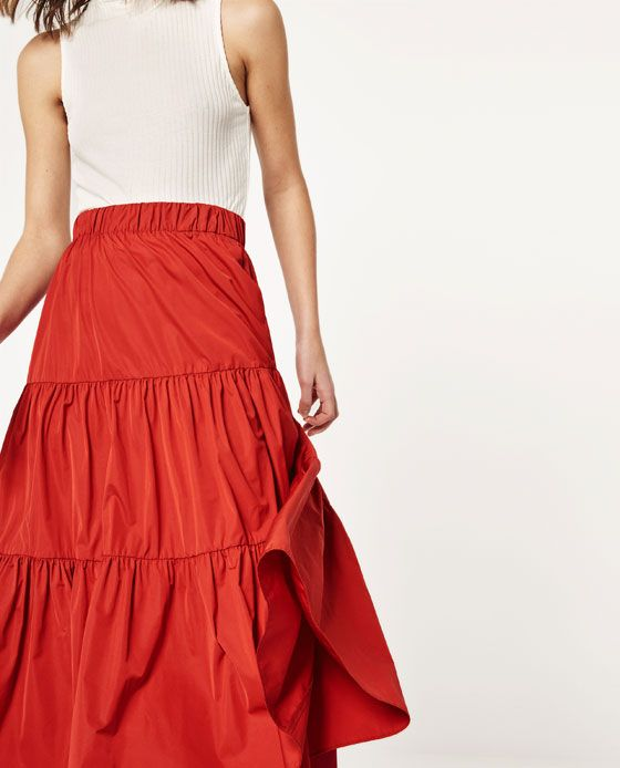 Image 2 of STUDIO SKIRT WITH FRILL from Zara