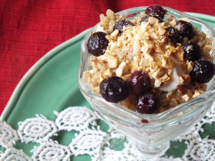 Blueberry Quinoa Parfait from Closet Cooking