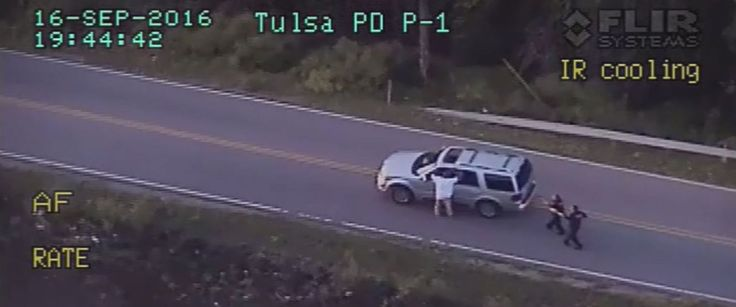 PHOTO: Video released by the Tulsa Police Department shows the moments before…