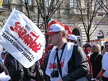 AUG. 31, 1980:  The Gdansk Agreement, which  allowed the first labor union to be created in a communist country, was reached between the Communist government of Poland and  Polish labor leaders.   image:  Solidarity (Polish trade union) - Wikipedia, the free encyclopedia