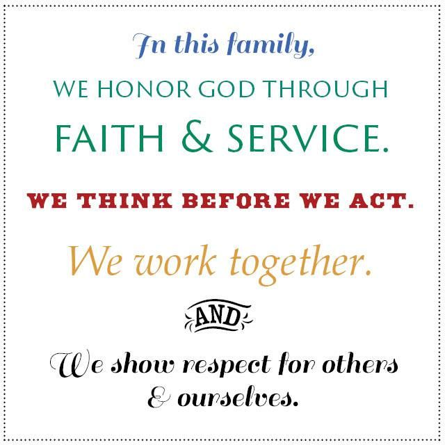 As you work to create your own family mission statement, here'smy family's own mission statement, with a line-by-line reflection on how each piece helps to shape our family life. &nbsp…
