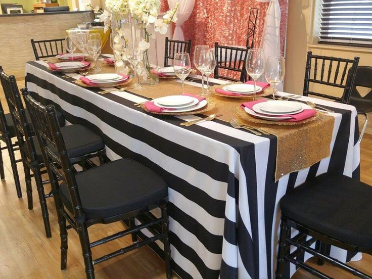 Kate Spade Theme Table. Weinhardt Party Rentals. Table LinensKate SpadeDining  TableDining RoomTableclothsDinning ...