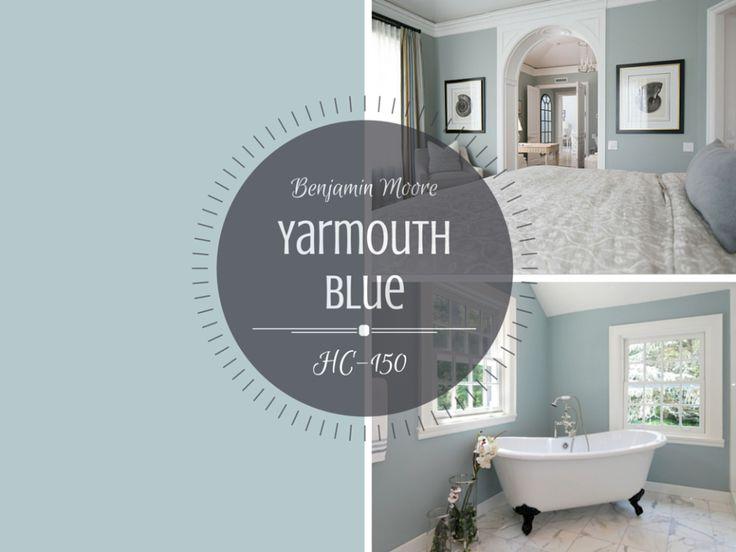 Benjamin Moore Yarmouth Blue - master bedroom
