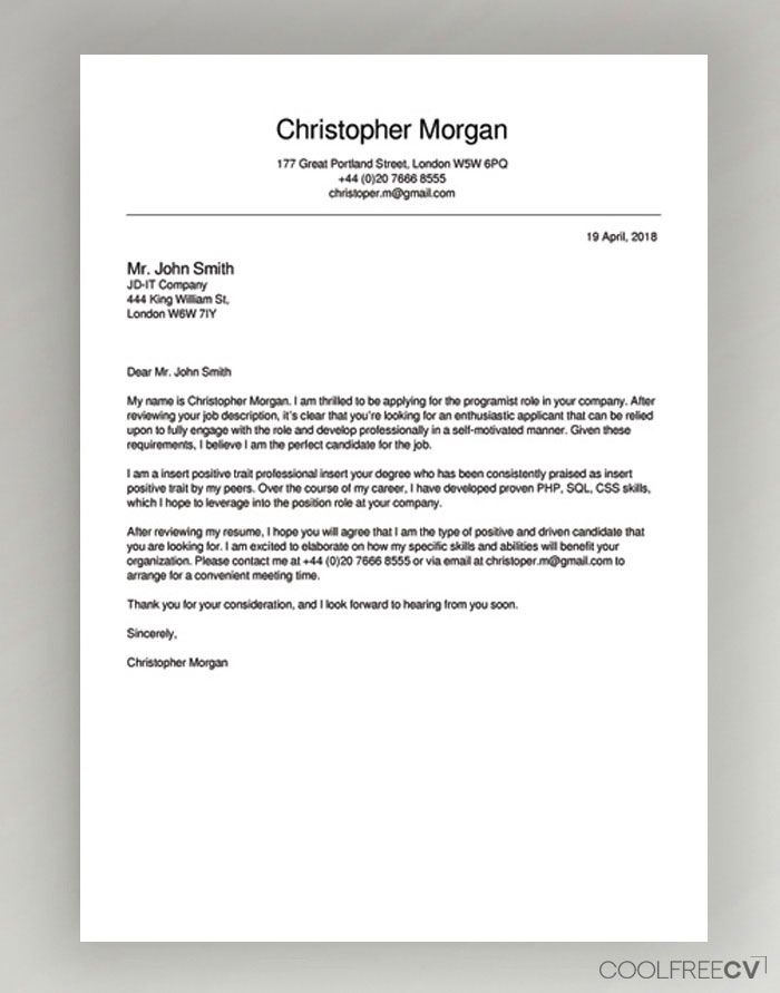 Cover Letter Maker Creator Template Samples To PDF | Cover ...
