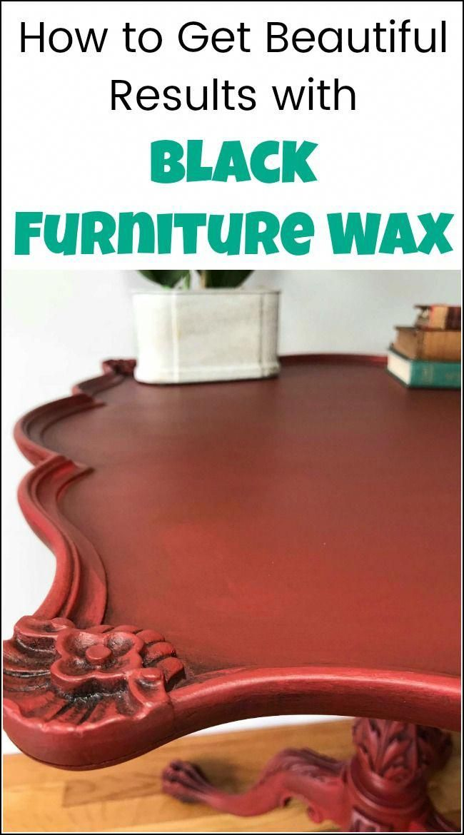 Get gorgeous results with black furniture wax on your painted - Cheap Black Furniture