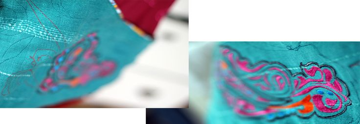 casual bag BOHO EVE, embroidered mehendi motive