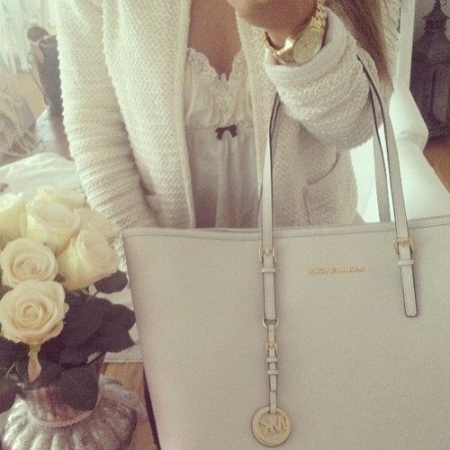 Perfect white MK purse