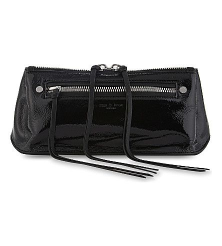 RAG & BONE - Ellis patent leather bum bag | Selfridges.com