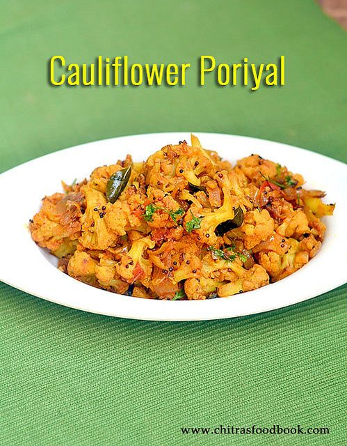 South Indian style cauliflower poriyal recipe